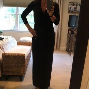 Boston Proper long black dress